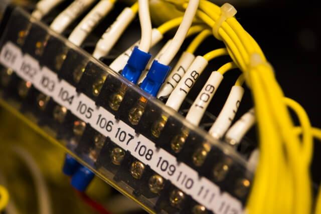 制御回路(PLC意外)の線番号