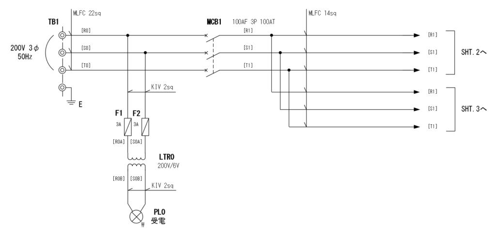 展開接続図 SHT.1