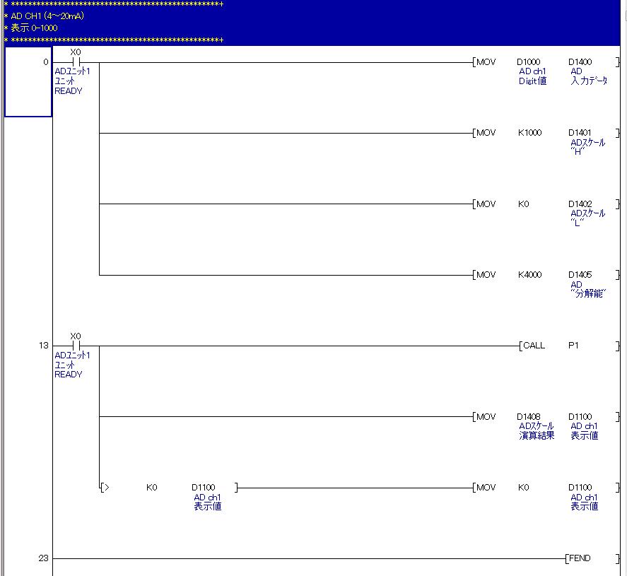 Q64ADラダープログラム例1