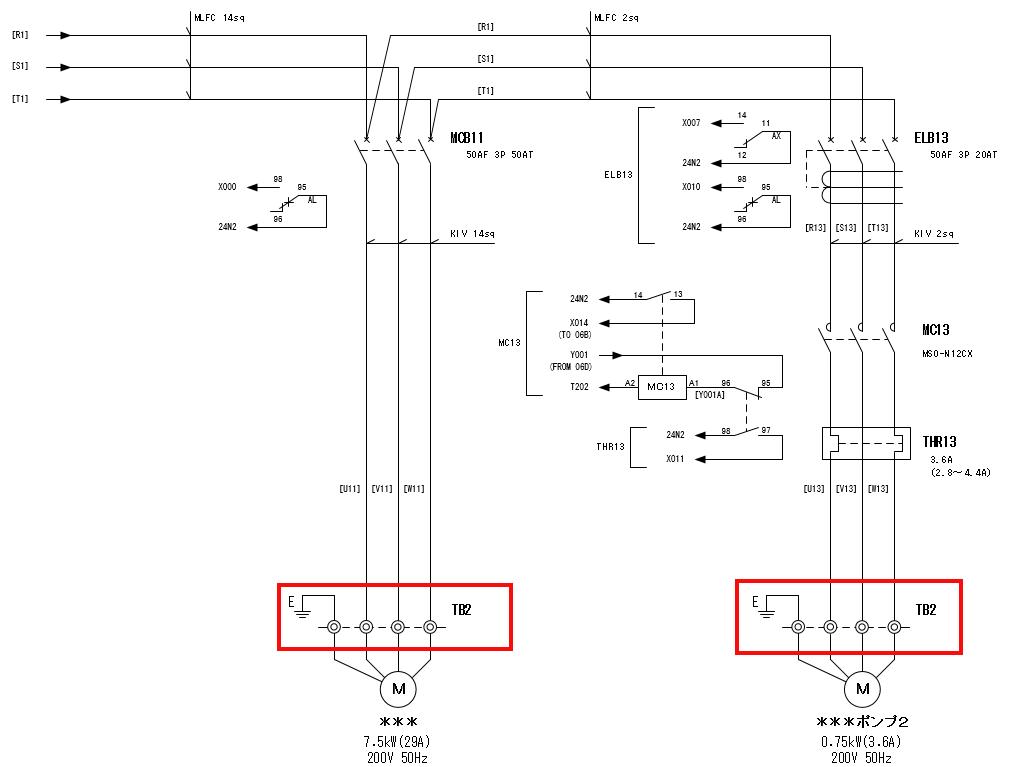 展開接続図2ページ目のTB2