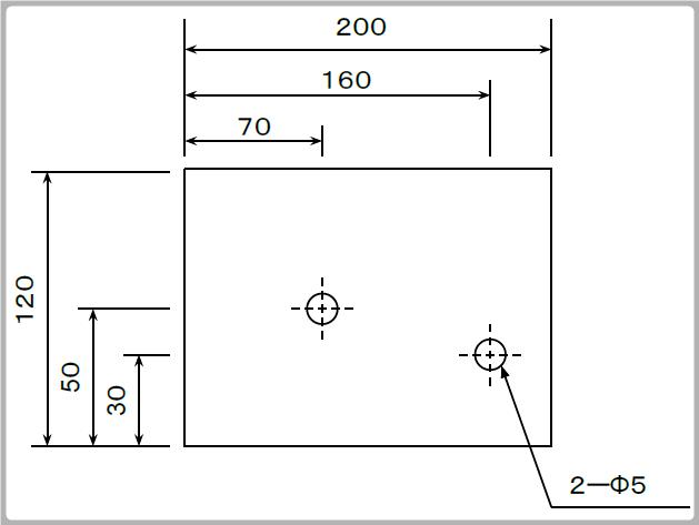 左上、左下基点の寸法図