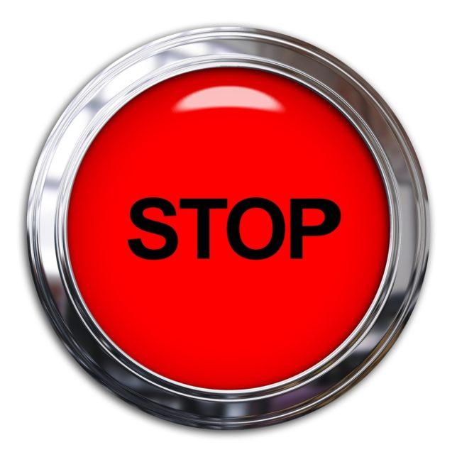 非常停止ボタンはどんなときに使う?