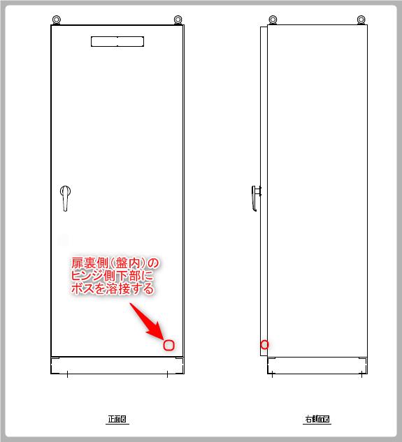 接地線接続箇所(扉)