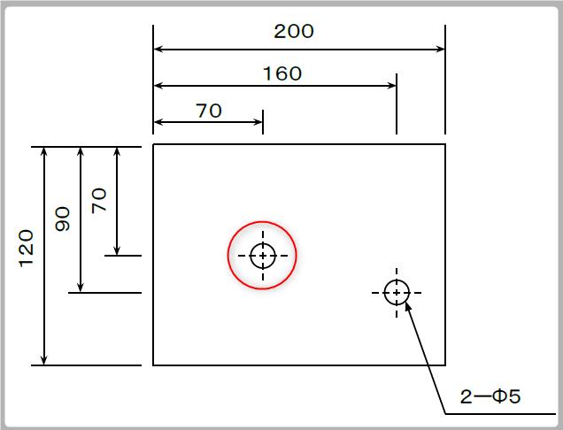 左上基点の寸法線(修正後)